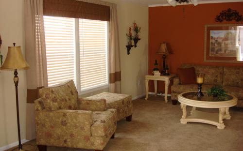 living room of modular home