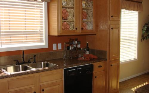 modular home kitchen