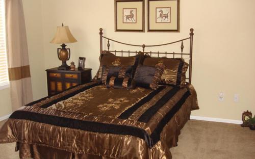 bedroom in modular home